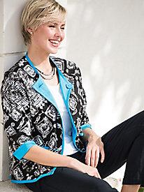 Batik-Print Reversible Jacket