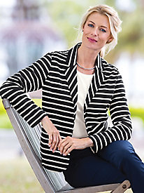 Striped Ponte Jacket...