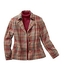 Plaid Back-Pleat Jacket...