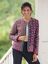 Quilted Patchwork-Print Jacket