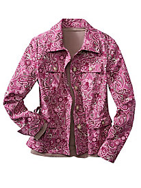 Floral Print Equipment Jacket