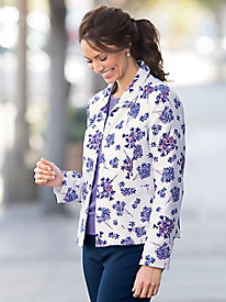 Spring Lilacs Textured Jacket