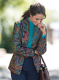 Open Front Paisley Jacket