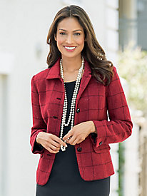 Windowpane Tweed Jacket