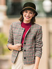 Glen Plaid Wool Jacket