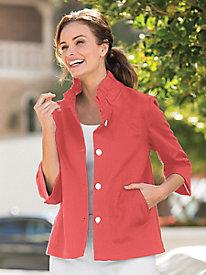 Ruffle Collar Jacket...
