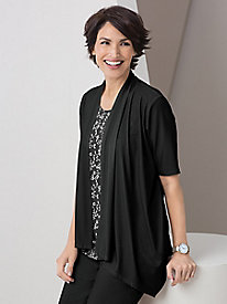 Two-for-One Waterfall Cardigan by Koret®