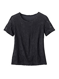Studio Style Stretch Lace Tee