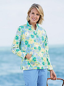 Floral-Print French Terry Pullover
