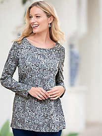 Layered Paisley Swing Tunic