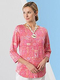 Batik Print Tee