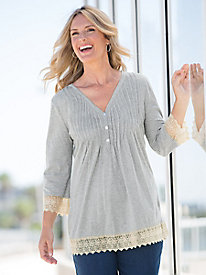 Poetic Pintucks Tunic