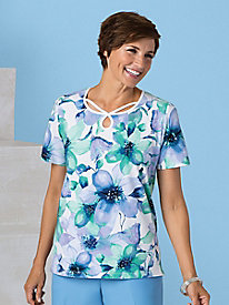 Watercolor Floral Tee by Alfred Dunner®