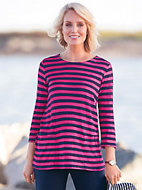 Statement-Stripe Swing Tunic