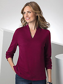 Stand Collar Long-Sleeve Tee