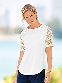 Touch-Of-Lace Tee
