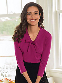 Tie-Neck Ponte Top