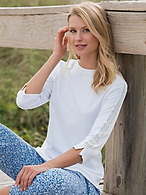Lace-Trimmed Tee