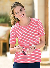 Striped Refined Cotton Sweater