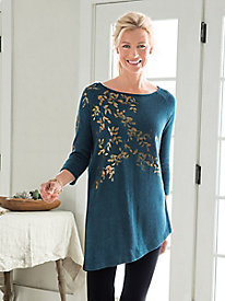 Gold Leaf Tunic Sweater