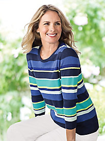 Striking Stripes Pullover