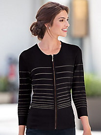 Shadow-Stripe Cardigan