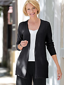 Draped V-Neck Pocket Cardigan