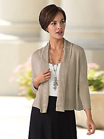 Pointelle Collar Cardigan
