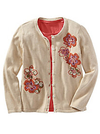 1950s Style Sweaters, Crop Cardigans, Twin Sets Limited-Edition Harvest Sunset Cardigan $49.97 AT vintagedancer.com