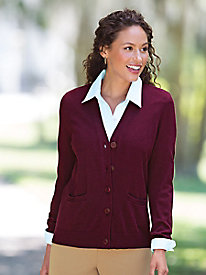 Cotton-Rich V-Neck Cardigan