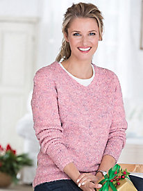 Cuddle Boucl� V-Neck Sweater