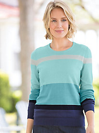 Katie Colorblock Stripe Pullover