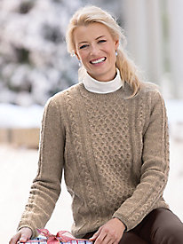 Cabled Wool Pullover