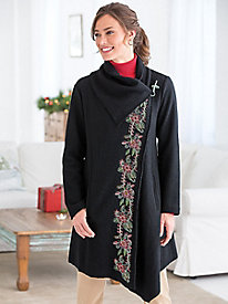 Embroidered Boiled-Wool Chic Jacket