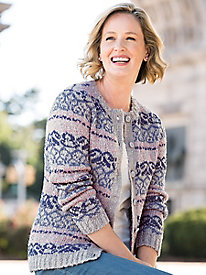 Spring Bouclé Patterned Cardigan