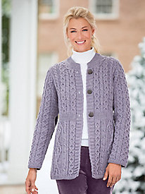 1960s Style Sweaters & Cardigans Irish Wool Empire Cardigan $109.99 AT vintagedancer.com
