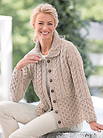 1960s Style Sweaters & Cardigans Irish Wool Classic Cardigan $109.99 AT vintagedancer.com