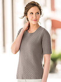 Diamond Tuck-Stitch Pullover