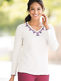 Hand-Embroidered Pullover