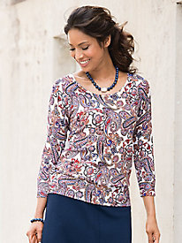 Regal Paisley Pullover