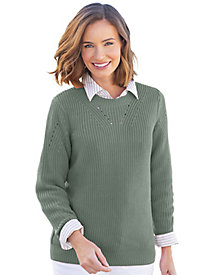 Shaker-Stitch Pullover