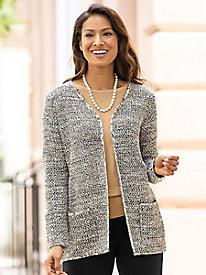 Tweed Sweater Coatigan...