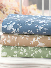 All Seasons Flannel Floral Sheeting