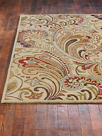 Paisley Scroll Wool Rug by linensource