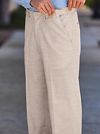 John Blair Linen-Look Adjust-A-Band Pants
