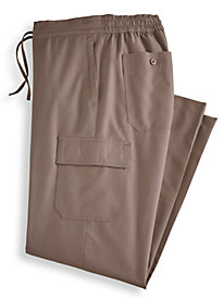 Linen-Look Cargo-Pocket Pants
