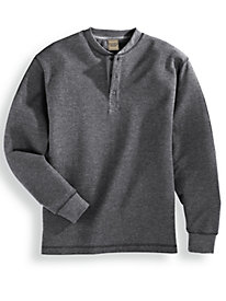 Scandia Woods Waffle Knit Henley Shirt