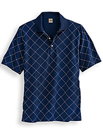 Scandia Woods Print Comfort Polo