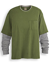Scandia Woods Layered-Look Pocket Tee