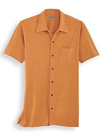 Scandia Woods Button-Front Pique Polo